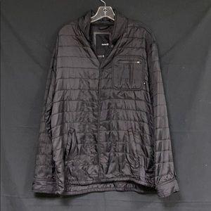 Hurley Black Button Up Light Weight Jacket XL